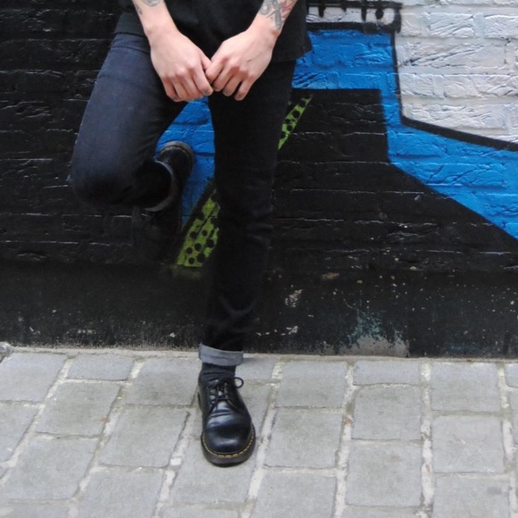 konkretna oferta najlepszy wylot Men's Dr. Martens black leather 1461 smooth